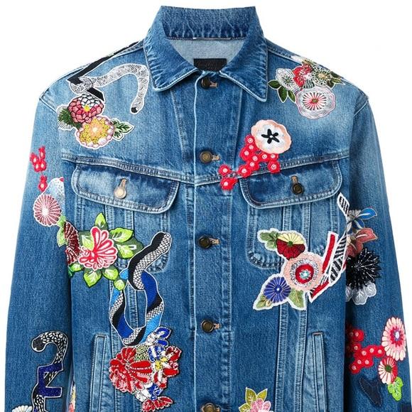Saint Laurent Jackets Coats Mens Embroidered Denim Jacket Poshmark